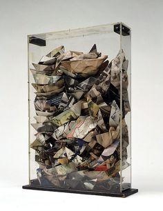 Collection Online   Arman. Paper Boats (Bateaux Papiers). 1961 - Guggenheim Museum