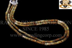 Ethiopian Opal Faceted Roundel (Quality A) Shape: Roundel Faceted Length: 36 cm Weight Approx: 5 to 7 Grms. Size Approx: 3.5 to 5 mm Price $36.00 Each Strand