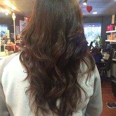 Hair that I did at work , color, cut, and/or blowout... No Flat iron Or Curling iron!