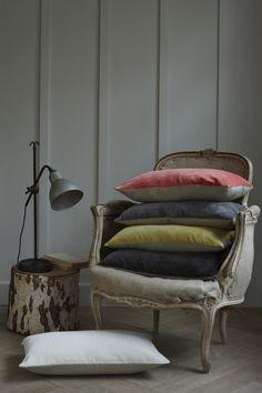 Velvet Cushion Silver Grey