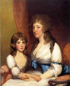 Gilbert Stuart,Mrs. Samuel Dick And Daughter Charlotte Anna oil painting reproductions for sale