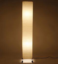 Lavish Square Khadi Jute Floor Lamp