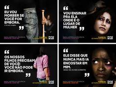 Maria da Penha - Campanha para rede social on Behance