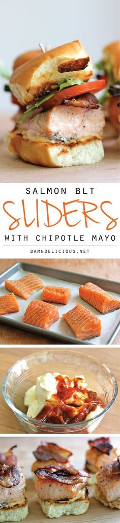 Salmon BLT Sliders with Chipotle Mayo Recipe plus 24 more of the most pinned fish recipes