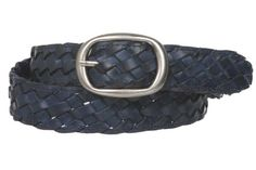 1 1/4'' Womens Braided Woven Leather Belt Size: S/M - 32'' Color: Navy Blue Made by #beltiscool Color #Navy Blue. Oval buckle. Soft leather 100% solid. 100% hand braided