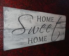 Home Sweet Home~Rustic hand painted wood sign by CherryCreekCrafts on Etsy