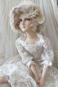 Antique french boudoir doll.paris c.1920 edwardian fashion doll