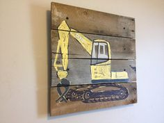 BackhoeLoaderconstruction by RusticTreeHouse on Etsy, $85.00
