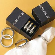 Inspire great cheer and liven up any dinner party with these encouraging words cast in polished pewter. #MadeInUSA Buy this set of Napkin rings. #festive