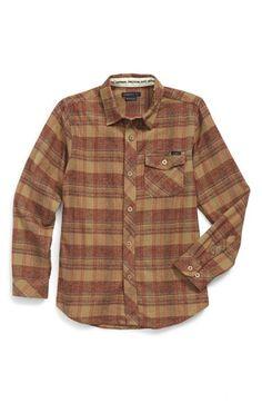 O'Neill 'Palisade' Long Sleeve Plaid Shirt (Big Boys) available at #Nordstrom
