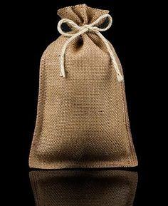 Bolsita de yute fabricada con tela de arpillera te damos - Sacos de esparto ...