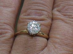 Vintage 14 K Yellow Gold Stackable Jewelry CZ by My3LadiesJewelry, $120.00