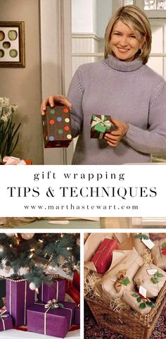 Gift Wrapping Tips & Techniques | Martha Stewart Living - Say goodbye to Christmas chaos this year. Follow these simple gift-wrapping strategies to give family and friends one-of-a-kind packages this holiday.