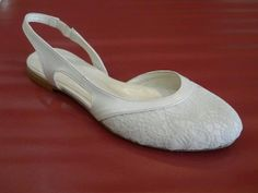 81cb45d17803 Items similar to Lace Bridal Flats Wedding shoes 1006 with my hand-knitted  gift