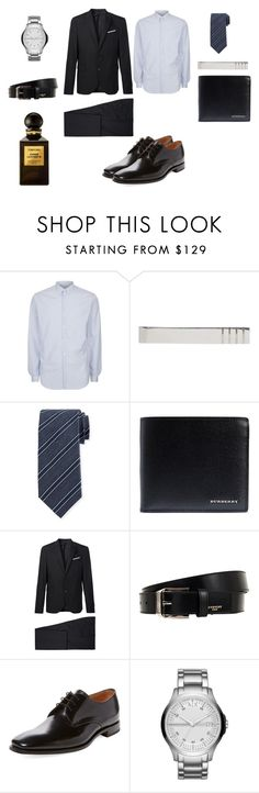 """""""Sin título #65"""" by flor-cicero on Polyvore featuring Sandro, Thom Browne, Canali, Burberry, Neil Barrett, Givenchy, Loake, Armani Exchange, Tom Ford y men's fashion"""