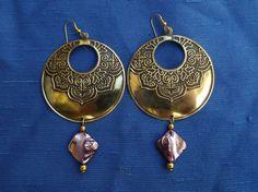 Boucles d'oreilles chandelier  style bohème en par MesOdalisques, €15.00