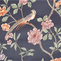 Aliexpress.com : Buy beibehang Birds Trees Flowers Chinoiserie Wallpaper rolls Birds Tree Blossom Statement 3D Wall Paper Roll For Background from Reliable wallpaper roll suppliers on LONG fashion Home Decoration