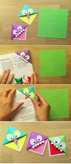 Easy Monster & Owl Corner Bookmarks
