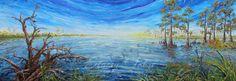 Swamps Edge  Original impasto style oil painting by StaceyFabre - Houma, LA impasto artist