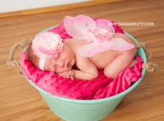 Baby wings, newborn wings, butterfly wings WITH headband, fairy wings,newborn girl,newborn photo prop, nylon, new baby girl,newborn pictures on Etsy, $20.00