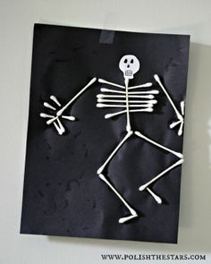 wattenstaafjes skelet (Q Tip Men)