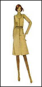 1970s Pinafore Pattern Dress