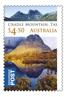 Our Cradle Mountain, Tasmania stamp. Time to grab the hiking boots and woollens.