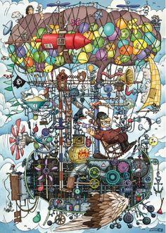 Gumperts Flying Machine 1000 Piece Puzzle Funny Puzzles, Jigsaw Puzzles, Puzzle Toys, Puzzle Art, Classic Board Games, Puzzle 1000, Retro 1, 3d Artist, Frames