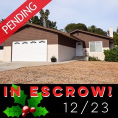 IN ESCROW!!! Vista home for sale!