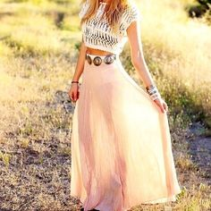 Maxi with crop top