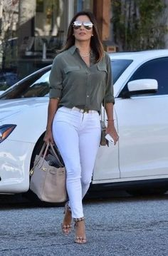 Eva Longoria Stops by the Ken Paves Salon - ZimbioYou can find Eva longoria and more on our website.Eva Longoria Stops by the Ken Paves Salon - Zimbio Casual Work Outfits, Business Casual Outfits, Curvy Outfits, Mode Outfits, Work Casual, Classy Outfits, Stylish Outfits, Summer Outfits, Fashion Outfits