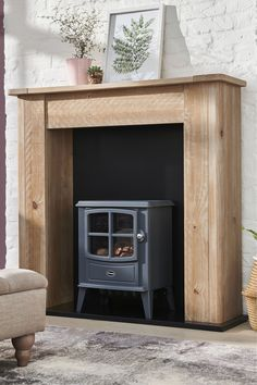Next Huxley Fireplace Surround - Natural