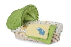 LOVE this moses basket for a boy