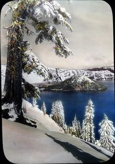 Crater Lake in winter.  One of my favorite places.   Lovely in the summer too