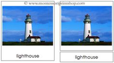 5. Buildings - Montessori 3-Part Classified Cards - Printable Montessori Learning Materials for home and school.