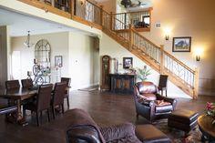 Morton Buildings custom home interior in Texas.