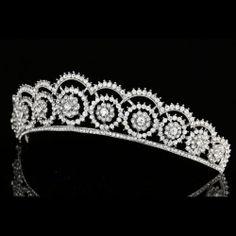 Floral Bridal Headpiece Rhinestone Crystal Prom Wedding Tiara V977   eBay