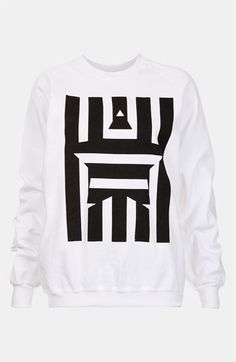 Topshop Star Graphic Sweatshirt available at #Nordstrom