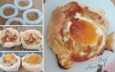 Plněný hermelín zabalený v listovém těstě   NejRecept.cz Kefir, Mashed Potatoes, Eggs, Cooking, Breakfast, Ethnic Recipes, Party Time, Chef Recipes, Whipped Potatoes