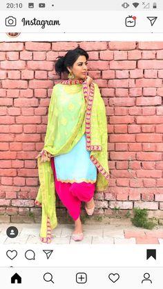 Punjabi Salwar Suits, Designer Punjabi Suits, Punjabi Dress, Punjabi Bride, Indian Designer Wear, Patiala, Salwar Kameez, Lovely Girl Image, Girls Image