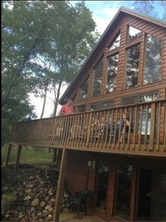 Webb Lake Vacation Rental - VRBO 573527 - 3 BR Northwest Chateau / Country House in WI, Expansive Lodge Rustic Style Lakehome on Pristine La...