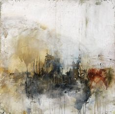 """Title: I Dont Want To Hear It #090803 Size: 10"""" x 10"""" (available in many larger sizes up to 50"""" x 50"""") Medium: Fine art giclee print on gallery wrapped canvas NOTE: room view shown is of one of the la #abstractart"""