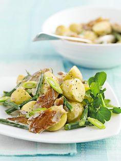 aardappelsalade met makreel en boontjes