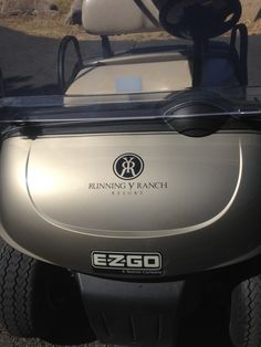 New logos on the golf carts! yeah!  www.runningy.com #RYRresort