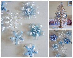 Cómo hacer adornos para árbol de Navidad con culos de botellas…