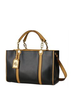 bc9ab94853ff Lauren Ralph Lauren Adlington Convertible Leather Shopper. Clearance  HandbagsRalph ...