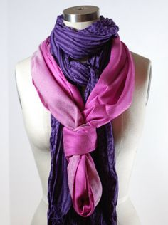 The knot and then putting two scarves... Why haven't I thought of this??