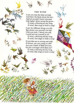 'The Wind' by Brian Wildsmith from 'A Child's Garden of Verses' by Robert Louis Stevenson, 1966