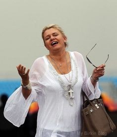 Corinna Schumacher – The Pit Walk : Fashion Michael Schumacher, Birkin, Her Style, Bell Sleeve Top, Lace, Tops, Women, Fashion, Moda