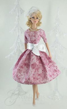 """""""Holiday Frost"""" by Gwendolyns Treasures for Silkstone Barbie Barbie Dress, Barbie Clothes, Dress Up, Pink Dress, Christmas Barbie, Poppy Parker, Vintage Barbie Dolls, Barbie Collector, Barbie Friends"""